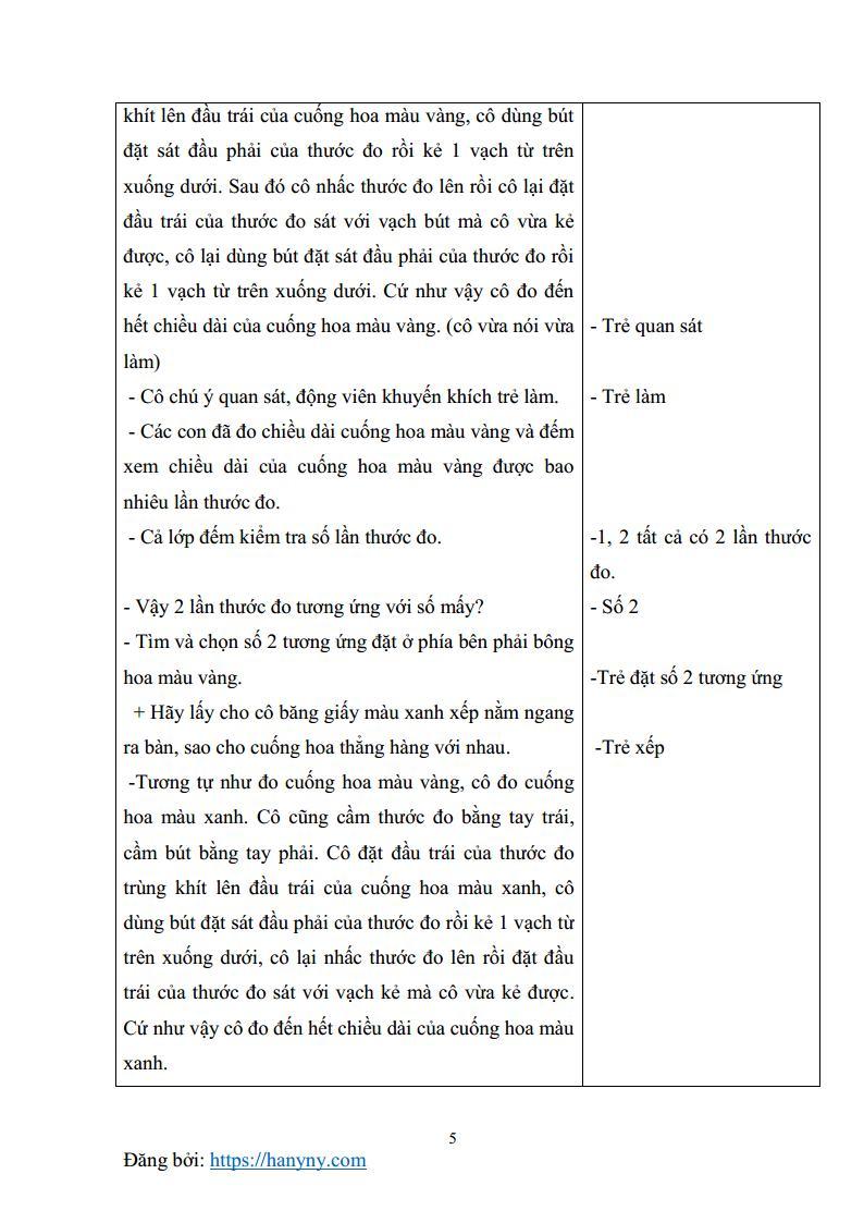 Giáo án mầm non đo các đối tượng bằng một đơn vị đo_trang4