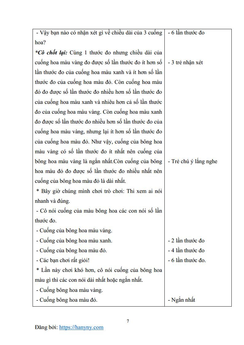 Giáo án mầm non đo các đối tượng bằng một đơn vị đo_trang6
