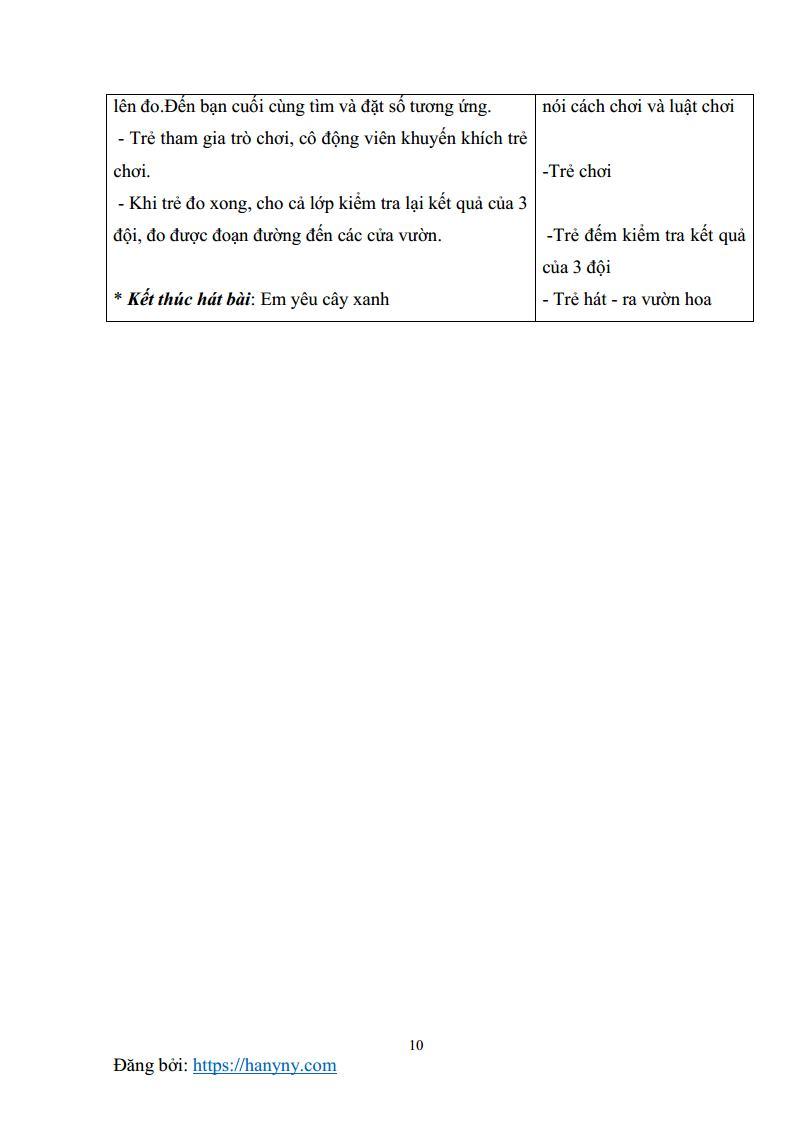 Giáo án mầm non đo các đối tượng bằng một đơn vị đo_trang9