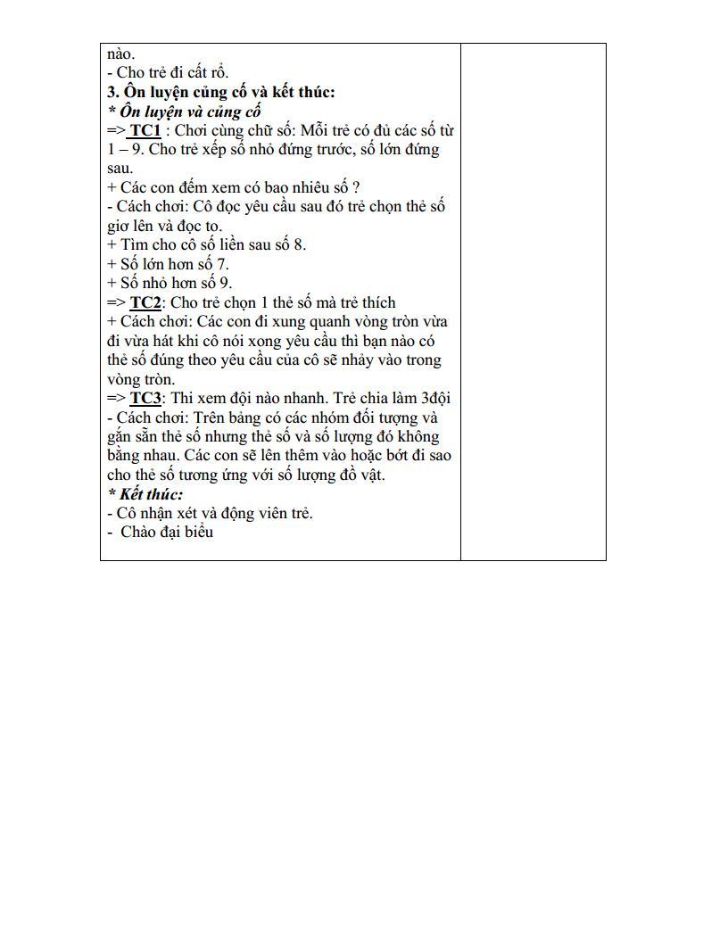 Giáo án mầm non nhận biết mối quan hệ hơn kém trong phạm vi 9_trang3