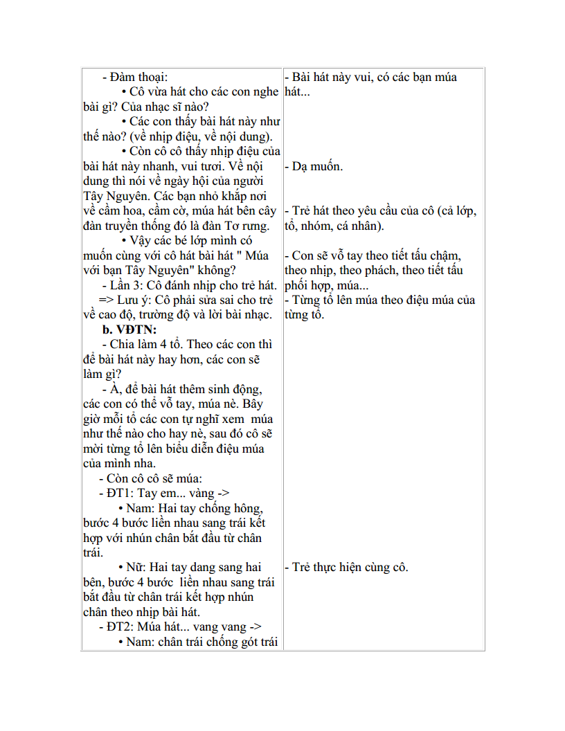 Giáo án mầm non dạy hát múa với bạn Tây Nguyên_trang1