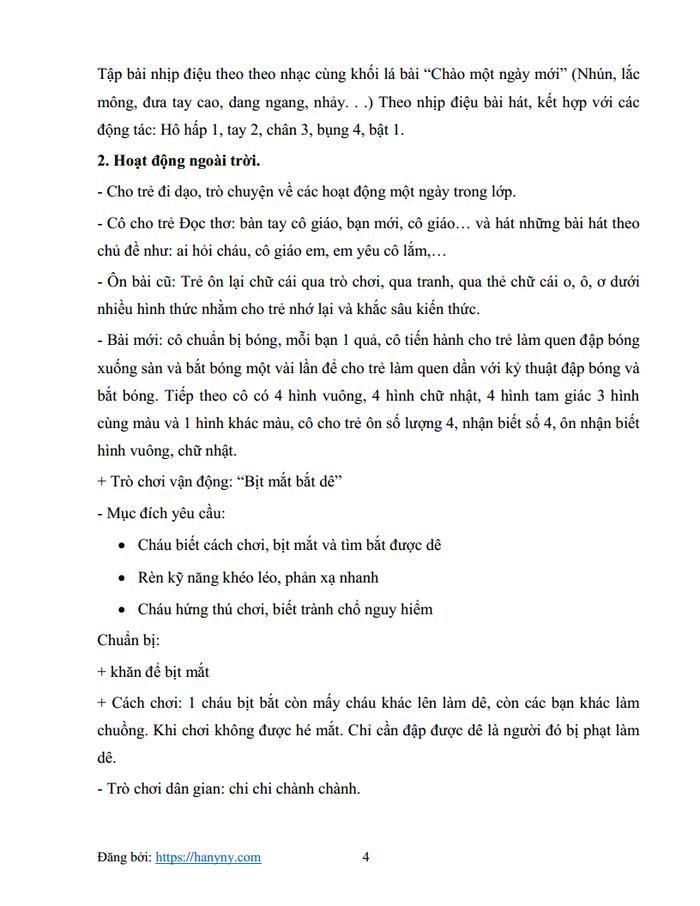 Giáo án mầm non chủ đề trường mầm non 3_trang3