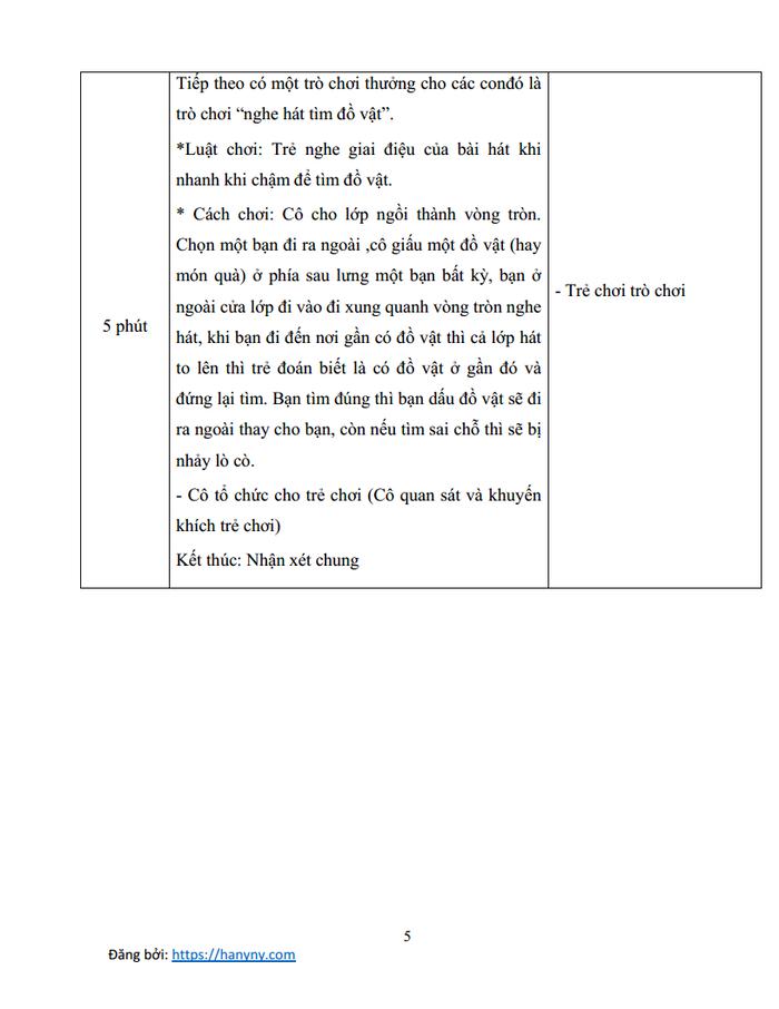 Giáo án mầm non dạy hát vui đến trường | lớp chồi_trang4