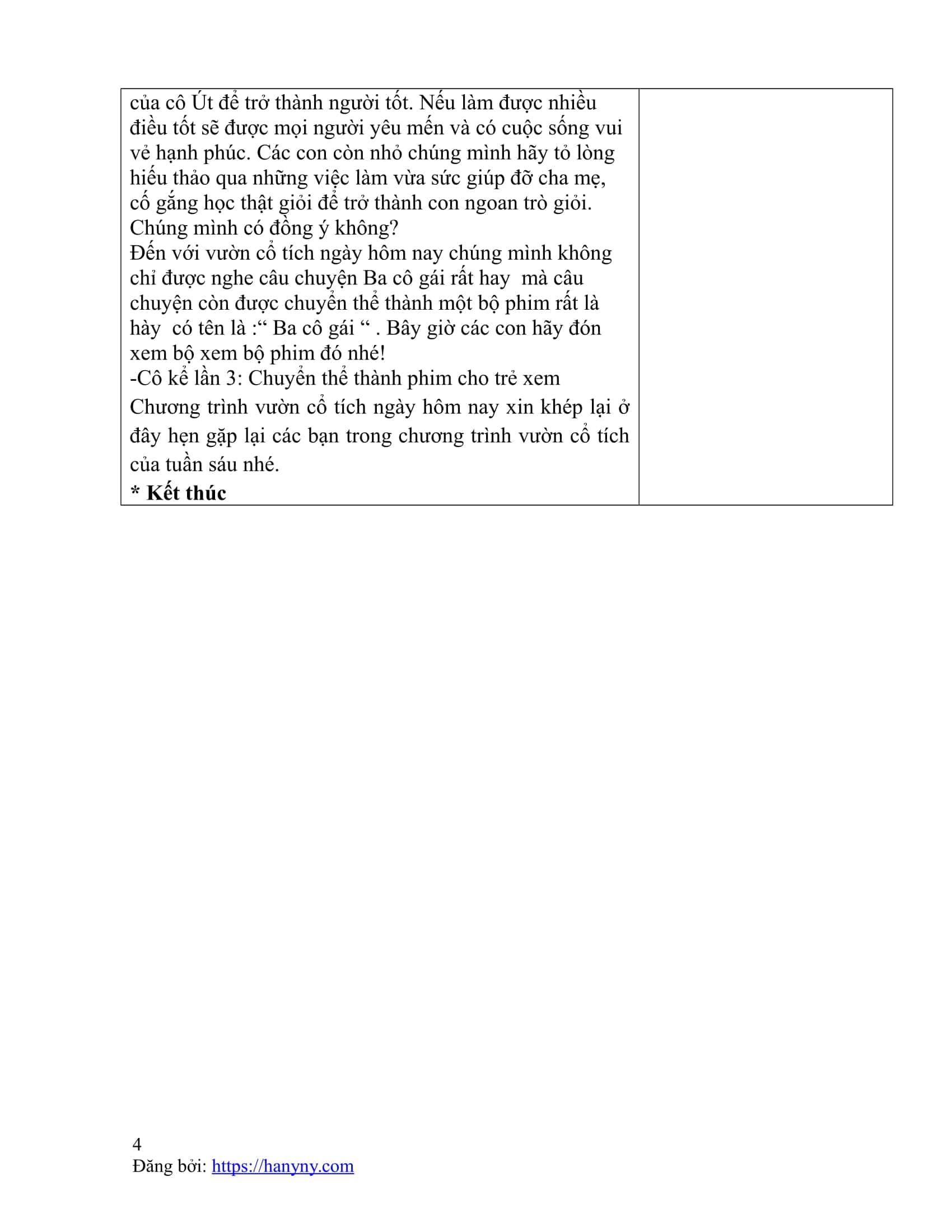 Giáo án kể chuyện cho trẻ nghe - truyện ba cô gái_trang3