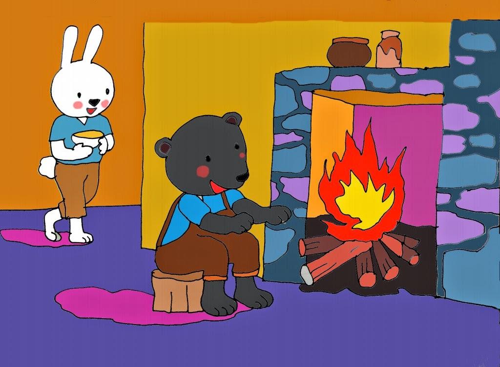 Giáo án mầm non Truyện Bác gấu đen và hai chú thỏ_trang0