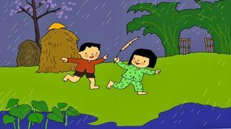 Giáo án điện tử mầm non dạy hát cho tôi đi làm mưa với